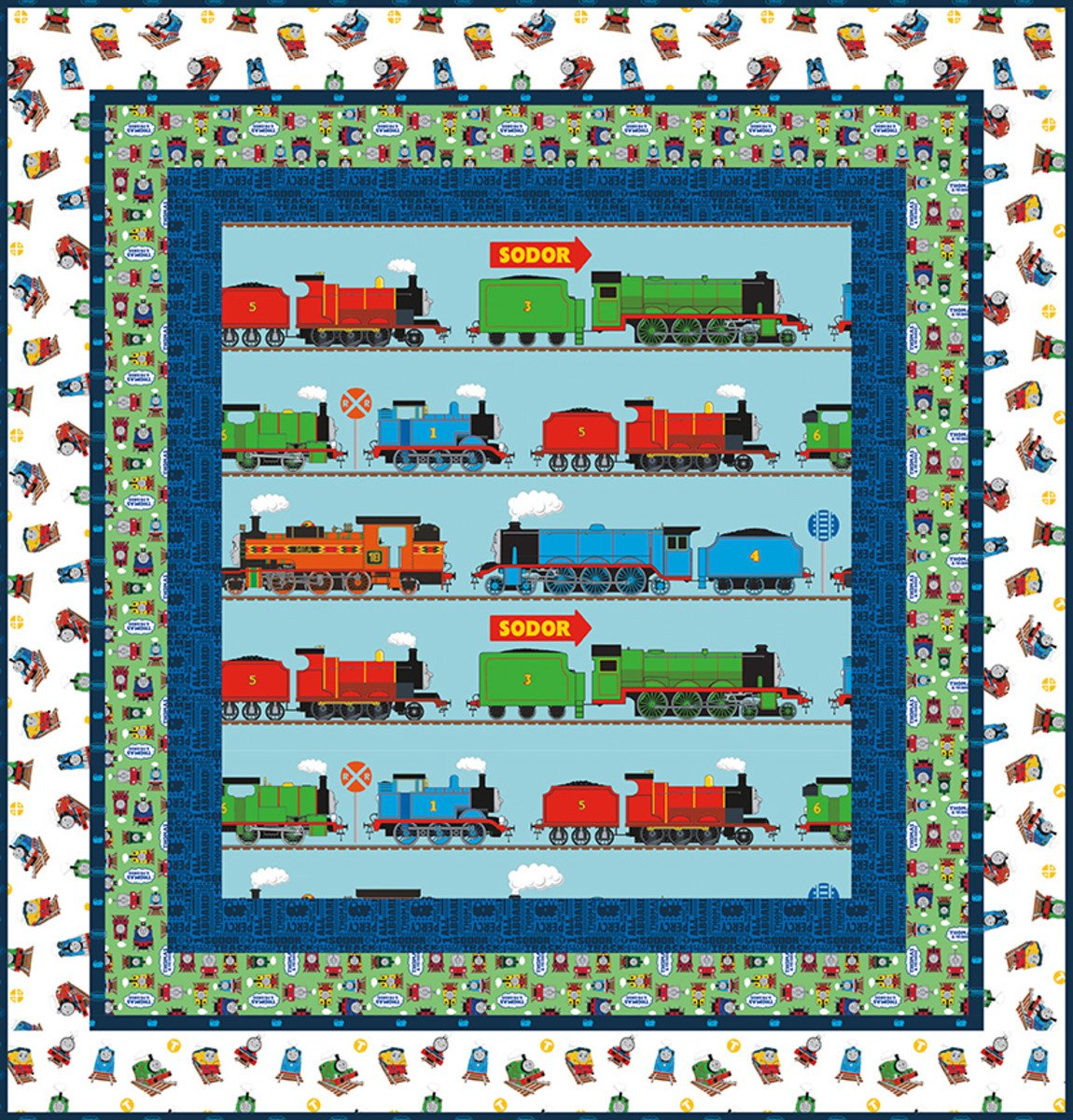 Thomas & Friends On the Go Quilt Boxed Kit (68x73)