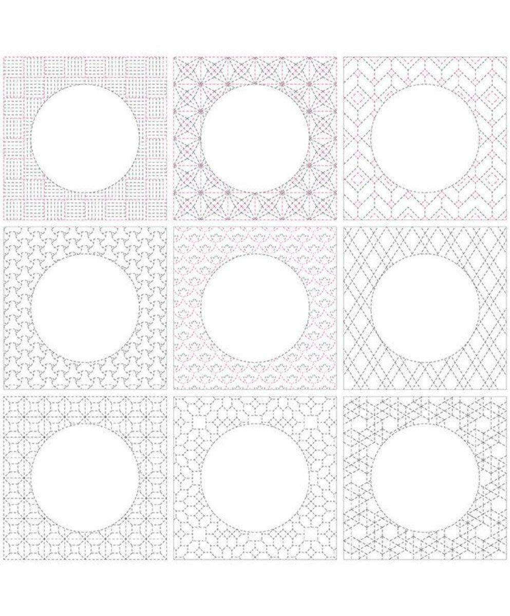 Sashiko Linen Panel (36x43.5) #92