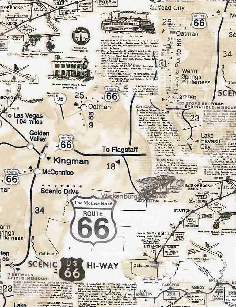 Map of Route 66 - COMING SOON