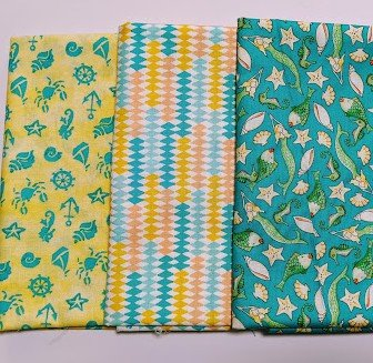 3 Yard Quilt Kit (FABRIC ONLY) - Mermaids Yellow