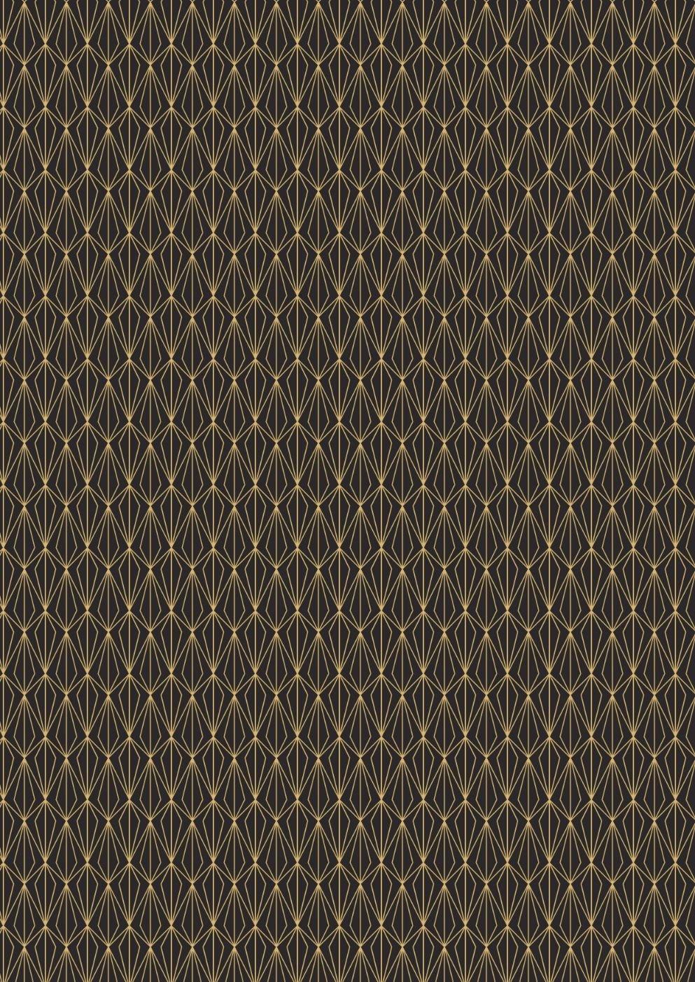 Marvellous Metallics Gold geometric on black