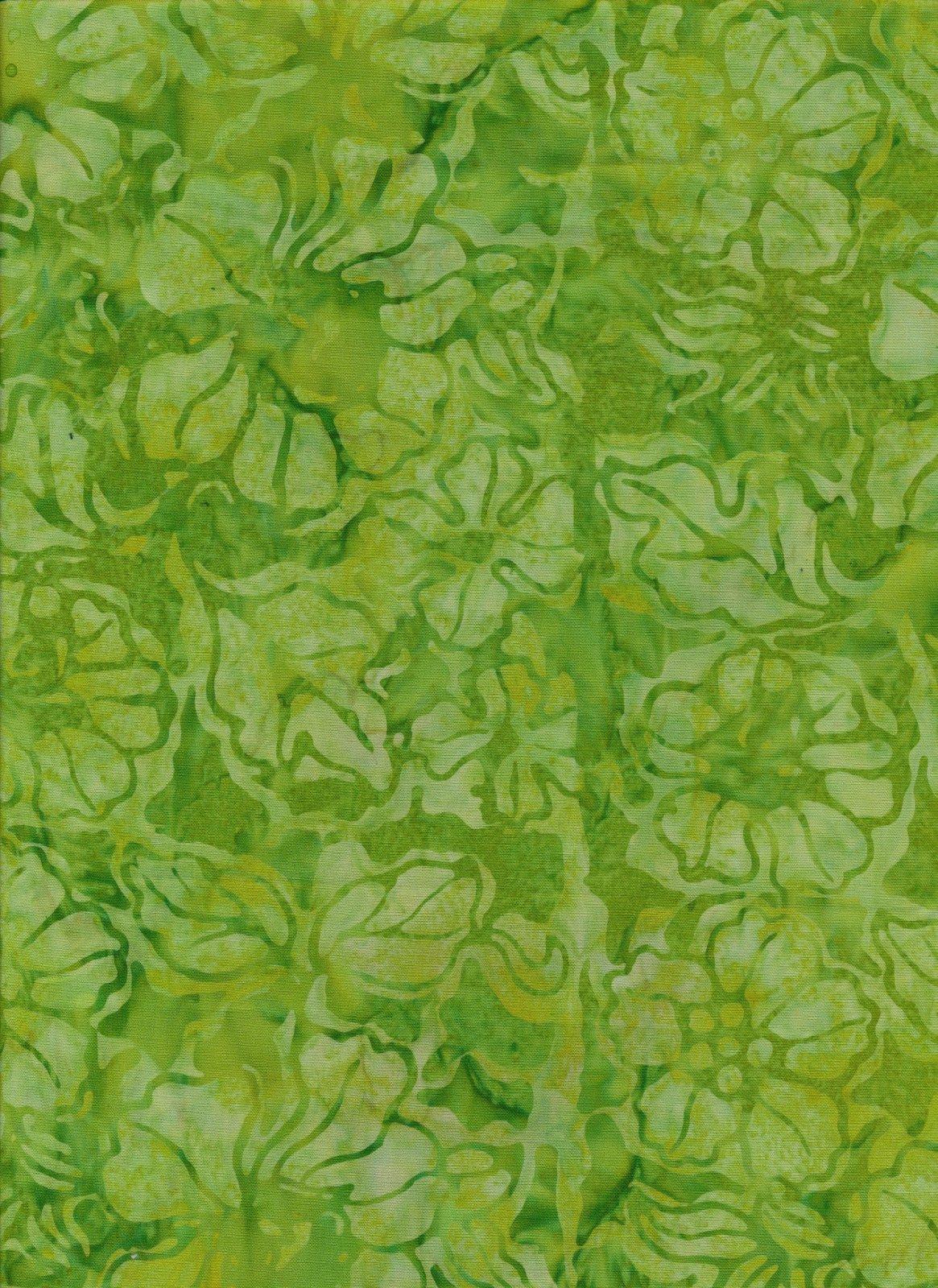 Ocean Floor Batik Green