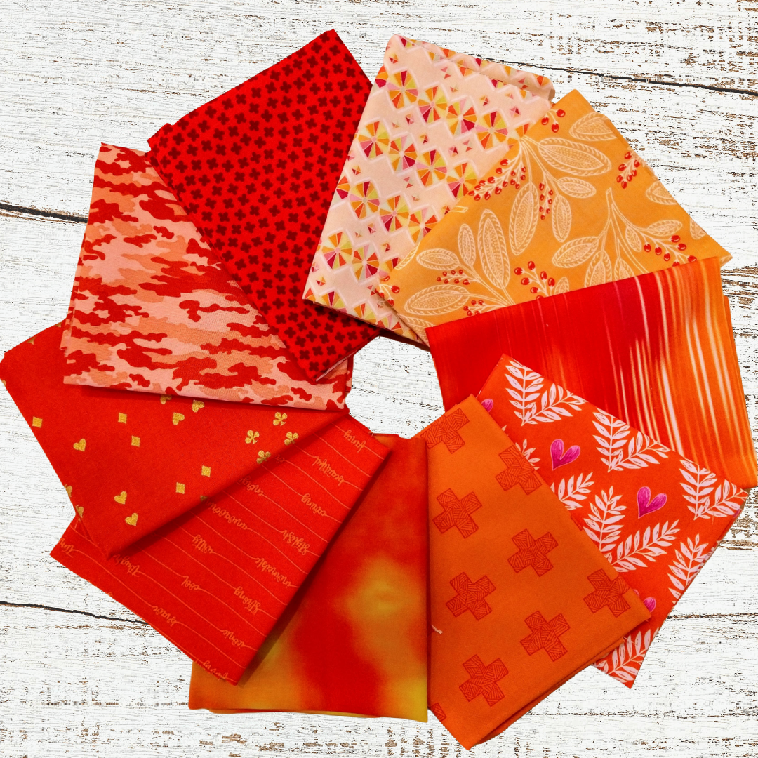 Colorway FQ bundle (10 pcs) - Orange You Glad