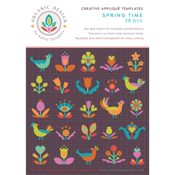 Organic Design Spring Time Applique Templates by Kathy Doughty