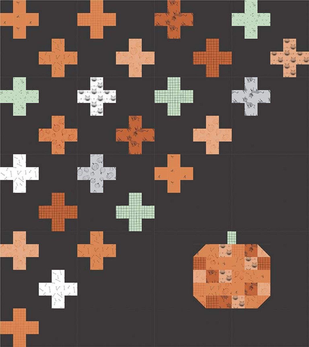 Swiss Fall Bliss Quilt Pattern (72x81)