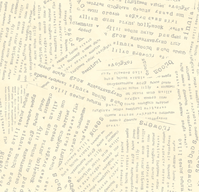 Potpourri Word Collage Butter