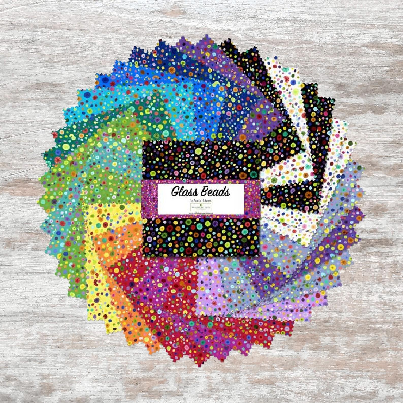 Essentials Glass Beads 5 Karat Gems 5 Squares (42 pcs)