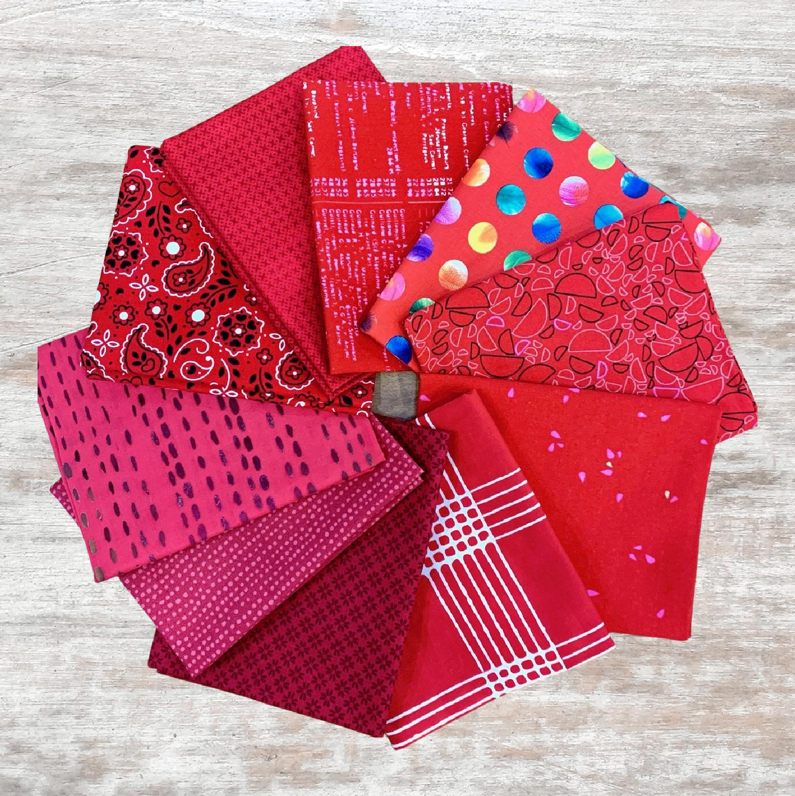 Colorway FQ Bundle (10 pcs) - Reds