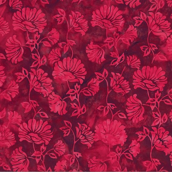 Bali Batiks Flower Bouquet Red Velvet - COMING SOON