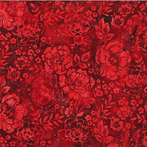 Bali Batik Peony Red