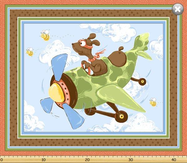 Susybee Zig, Flying Ace Dog Playmat 36  #72