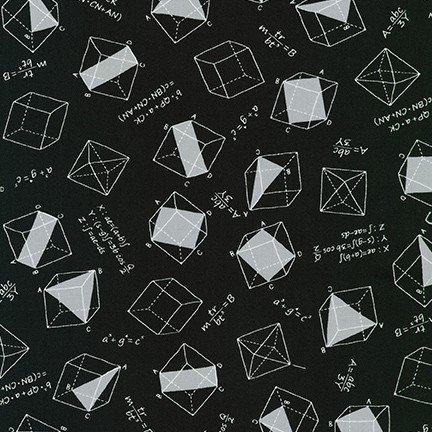 Musings Math Equations/Shapes Black