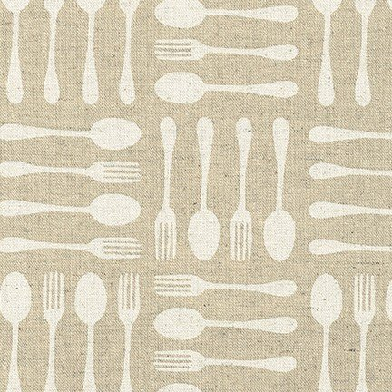 Cotton Flax Prints Flatware Natural (80% Cotton/20% Flax)