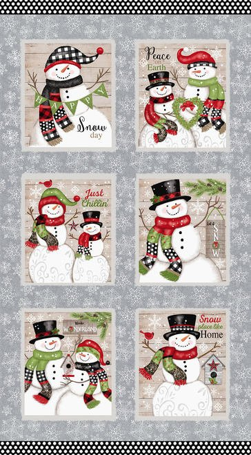 Snow Place Like Home Large Blocks Panel (24x44) #84