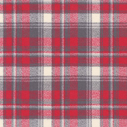 Mammoth Flannel 59 Wide Plaid Red