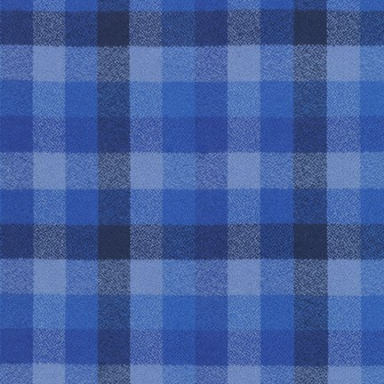 Mammoth Flannel 59 Wide Check Royal