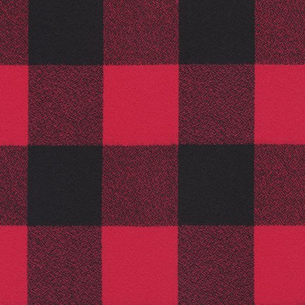 Mammoth Flannel 59 Wide Check Red/Black