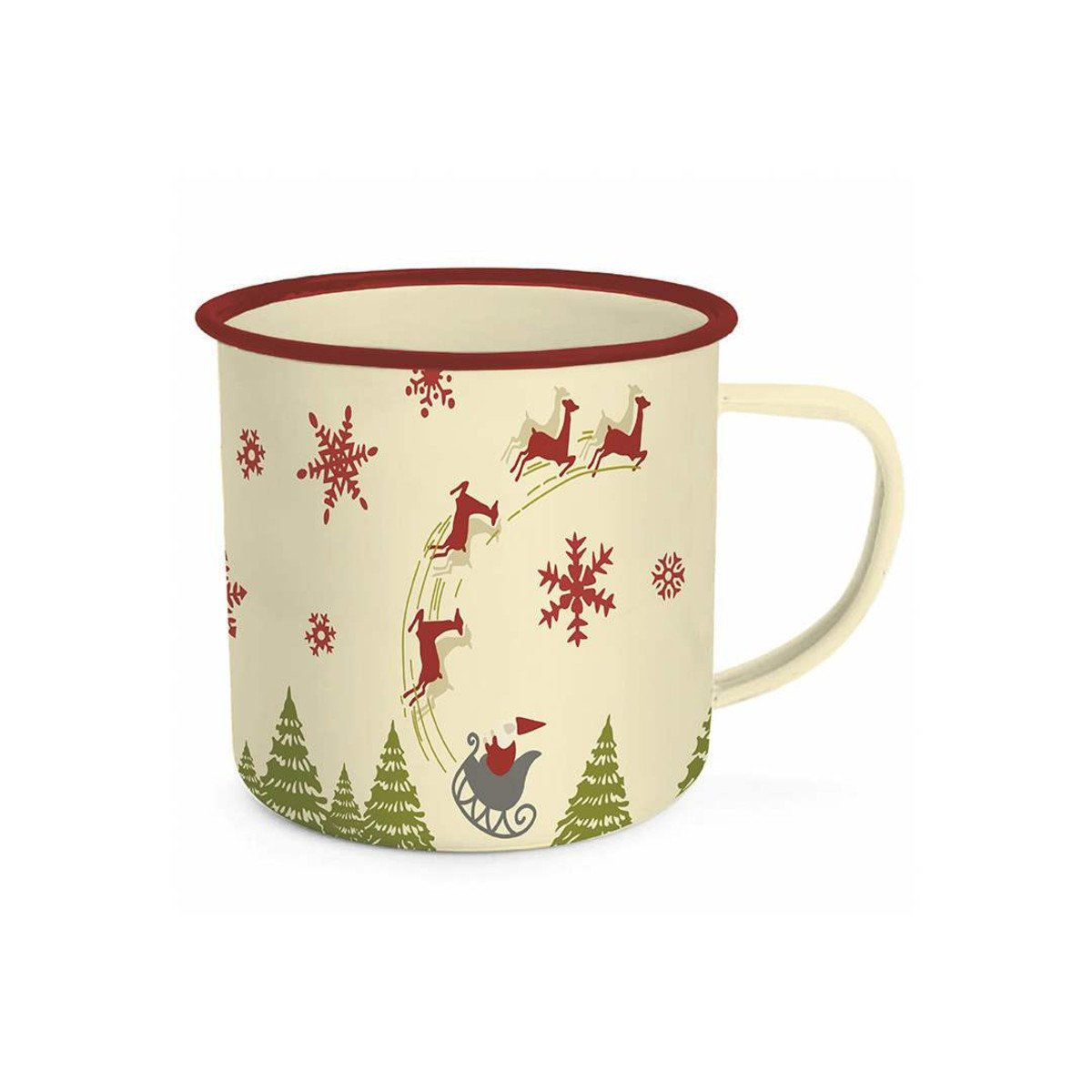 Stacy West Christmas Enamel Tin Mug (20 oz.)