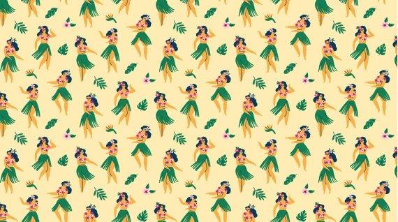 Aloha Hula Girls Sand