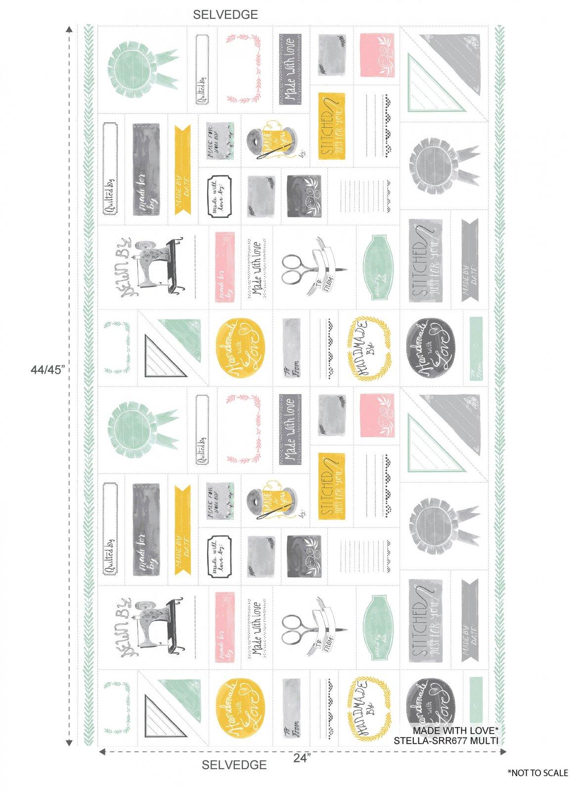 Quilt Label Panel by Dear Stella