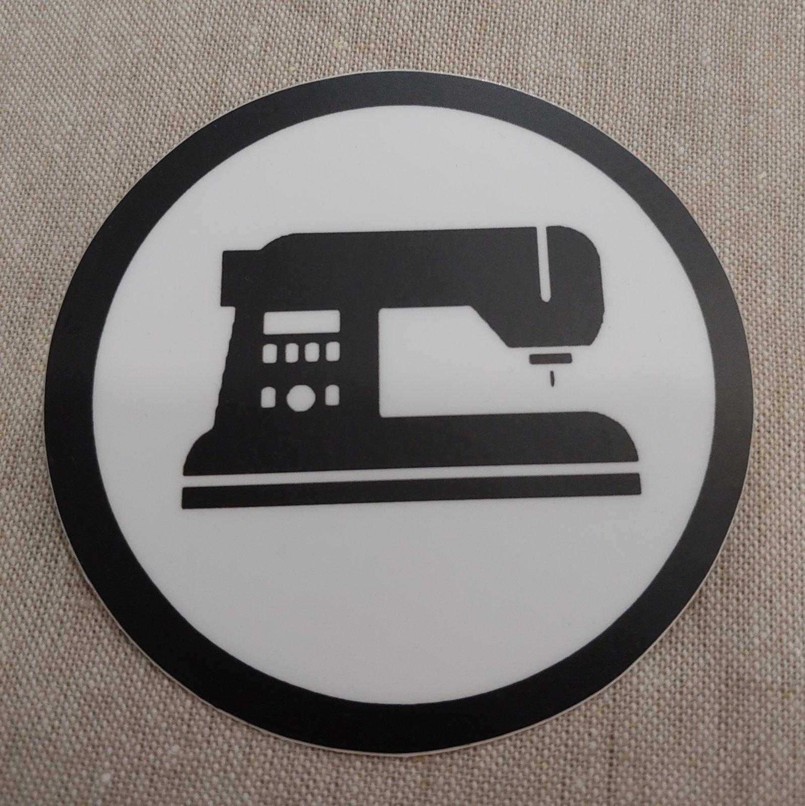 Circle w/ Black Machine sticker