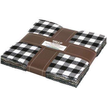 Mammoth Flannel 10 Squares  - Black (42 pcs)