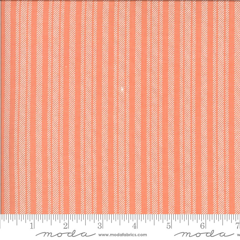 Apricot Ash Ticking Stripe Coral
