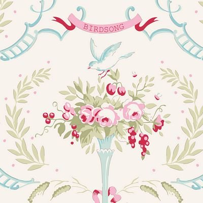 Old Rose Birdsong Dove White