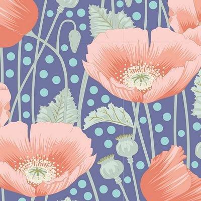 Tilda - Gardenlife Poppies Blue