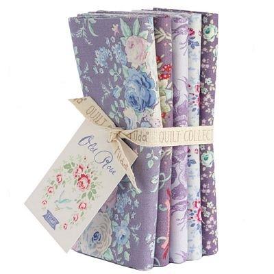 Old Rose Lilac Lavender FQ Bundle (5 pcs)