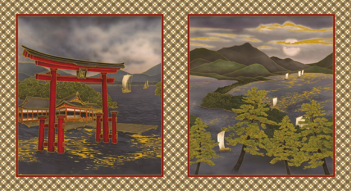 Torii Gate Sepia Panel
