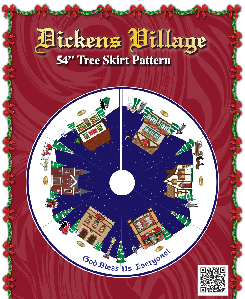 Dicken's Village Tree Skirt Project
