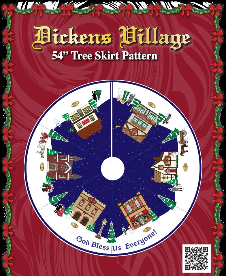 Dicken's Village Tree Skirt Project