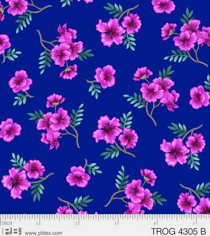 Tropic Gardens Small Floral Blue