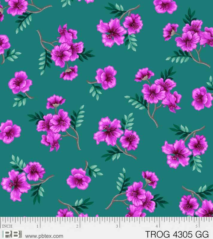 Tropic Gardens Small Floral Green
