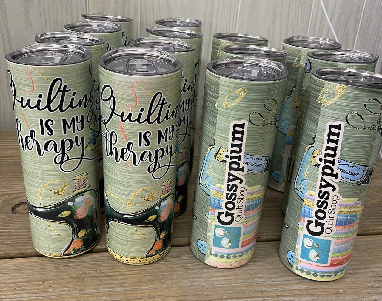 Gossypium Quilting is my Therapy Tumbler 20oz.