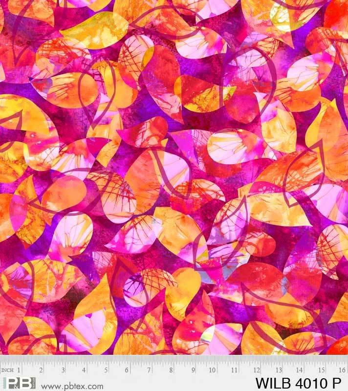 Wild Birds Digital Leaves Pink