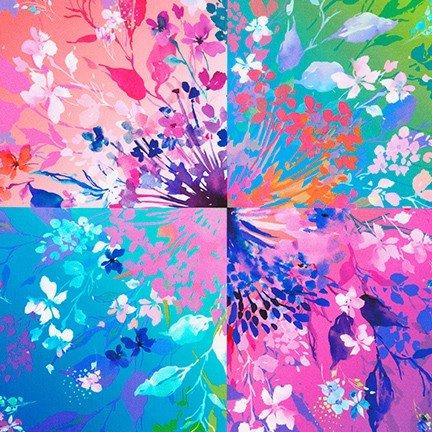 Bright Side by Wishwell Flower Burst Panel (24x44) #118