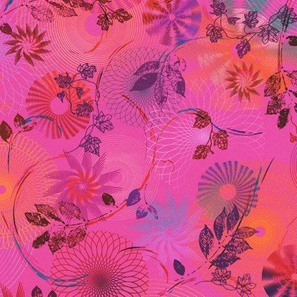 Loose Leaf Spiro Leaves Hot Pink
