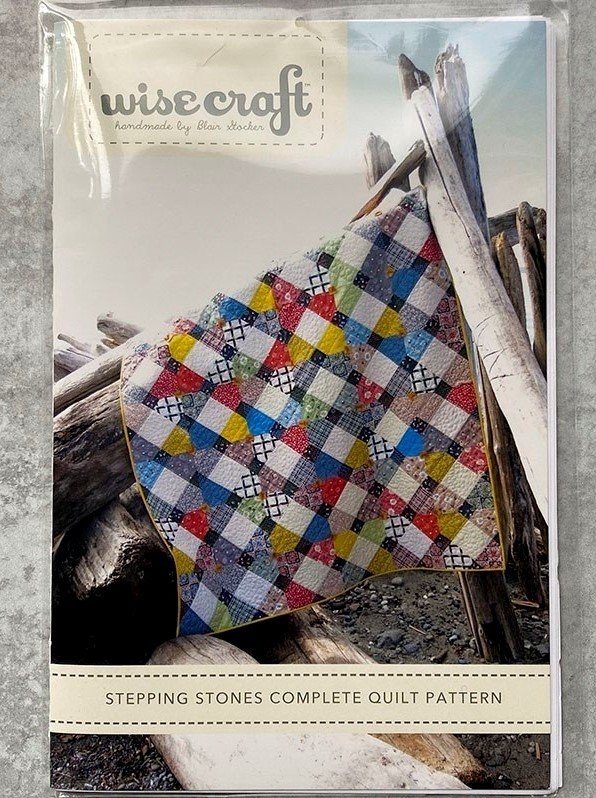 Stepping Stones Complete Quilt Pattern (Crib, Throw, Twin, Queen & King sizes)