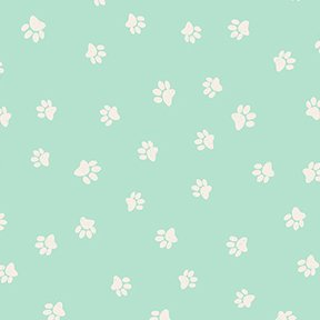 Snarky Cats Paw Prints Lt. Turquoise