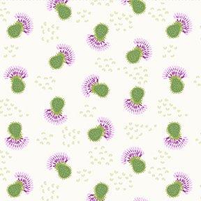 Thistle Patch Flower Heads Lt. Cream
