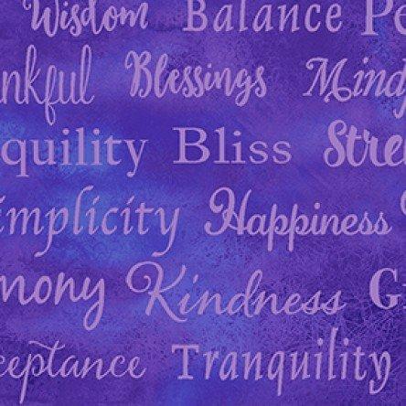 Good Vibes Words Purple