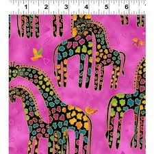 Mythical Jungle - Giraffes on Pink