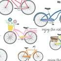 Enjoy the Ride Bicycles on White