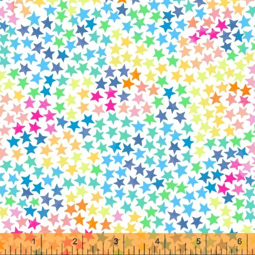 Cubby Bear Flannel Stars on White