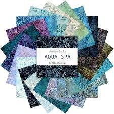 Artisan Batiks - Aqua Spa - Charm Squares