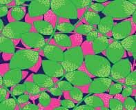 Bahama Breeze - green leaves on pink