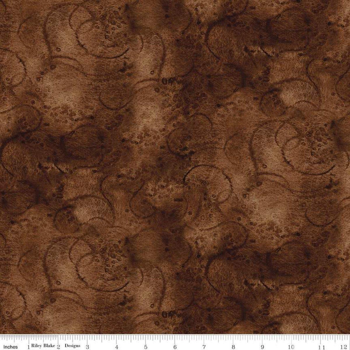 Painters Swirl In Warm Sepia