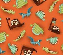 Dino-Riffic Dinos on Orange